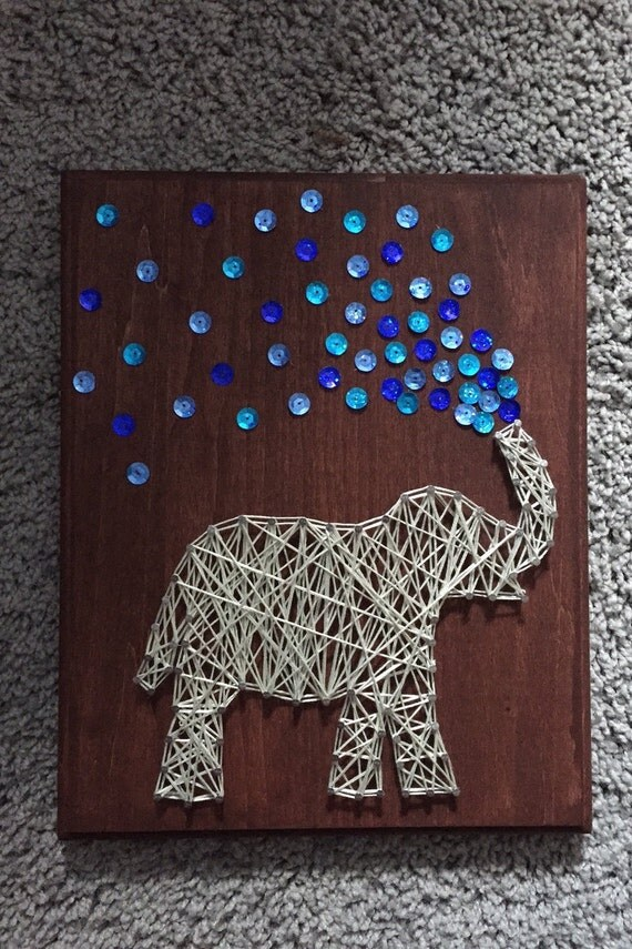 Items Similar To Elephant String Art On Etsy