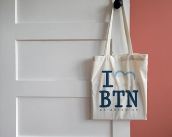 I Love Brighton canvas tote bag/shopper
