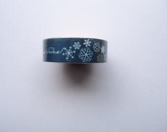 Christmas Blue Snowflake washi tape