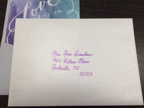 Handwritten Invitation Envelopes For Weddings Baby Shower