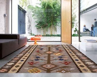 Pvc rug  / Decorative rug - pvc rug  - model Indian blanket - kitchen rugs / kitchen mat / Floor cloths, linoleum rug, kitchen mat floor