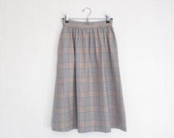 Vintage Skirt, Mad Men Skirt. Vintage Wool Skirt. Grodins Skirt. 1970s Secretary Skirt. Womens Vintage Skirt. Midi Skirt. Skirt with Pockets