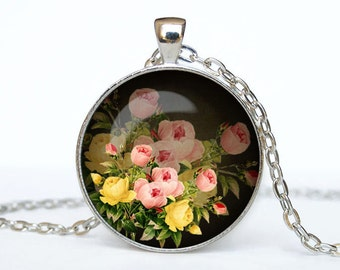 Rose necklace Rose pendant Rose jewelry Rose