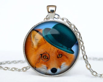 Steampunk fox necklace Steampunk fox pendant Steampunk fox jewelry