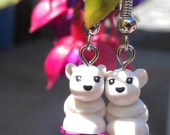 LEGO baby bunny earrings