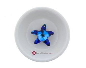 Bermuda Blue (28mm) Swarovski Crystal 6721 Starfish Pendant