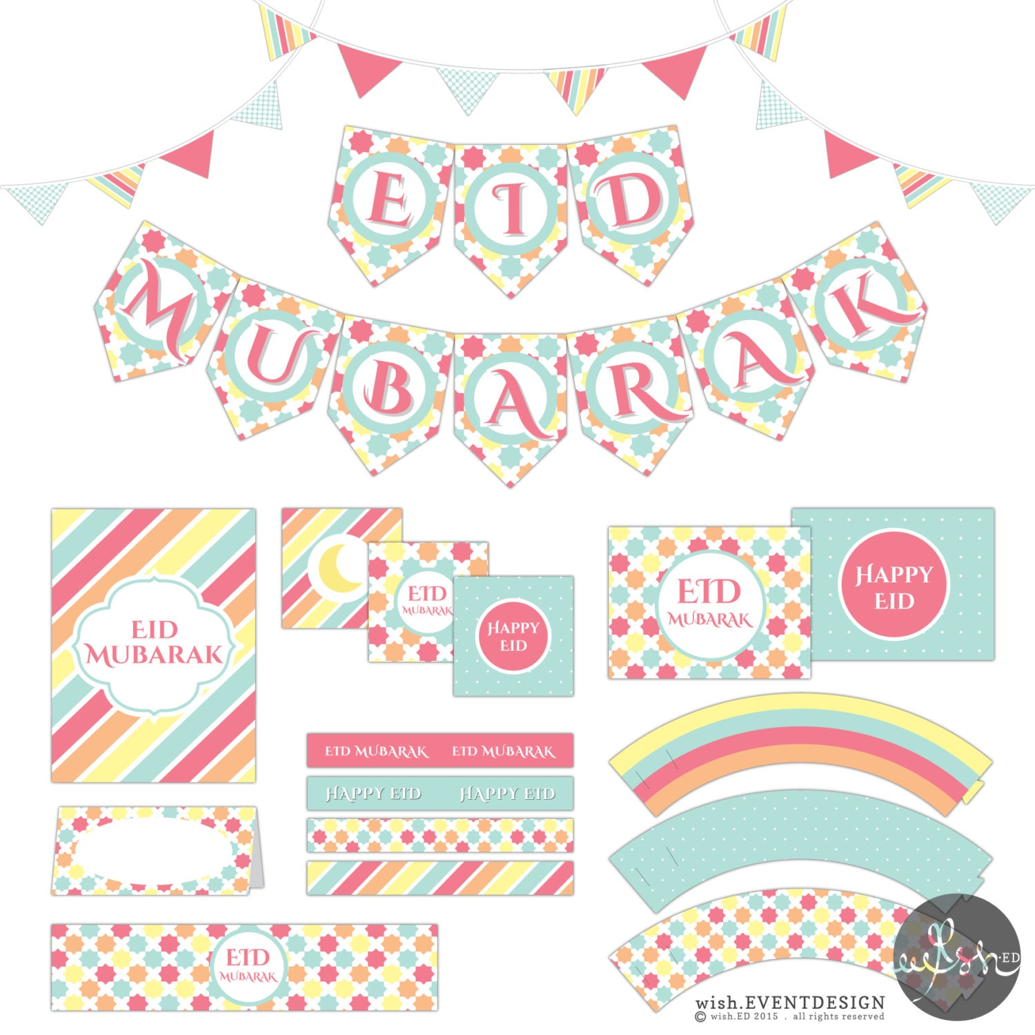 photo about Eid Cards Printable named Eid Printables standing