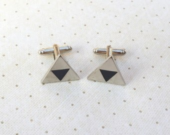 Legend of Zelda Triforce Link Cufflinks Cuff Links in Silver