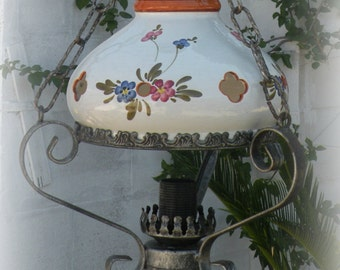 Wrought iron lamp Etsy