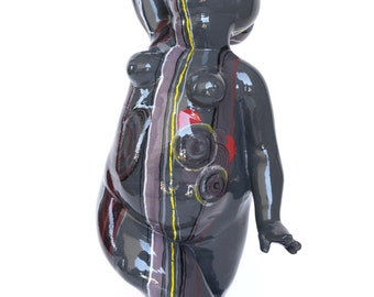Female figure sculpture-the black Dancer