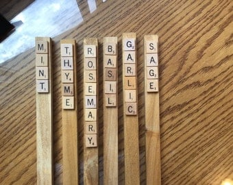 Scrabble Tile Herb & Vegetable Stakes!