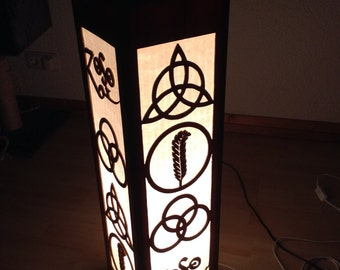 Led Zeppelin symbols lamp