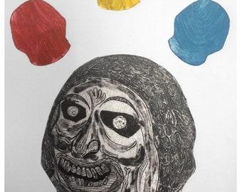 Handmade Collagraph Print