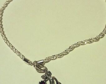 Phoenix Garnet Birthstone Necklace