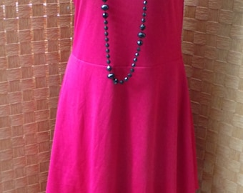 Red 1970s Maxi Dress