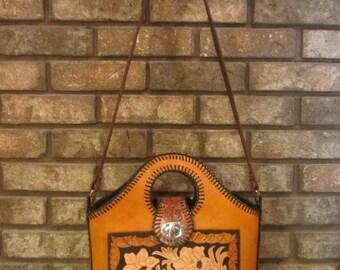 Handmade Leather Tooled Purse