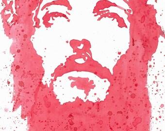 Jesus watercolor print