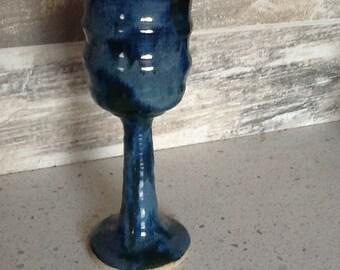 Fancy Blue Green Goblet