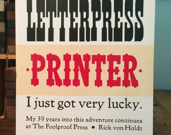 Life as a Letterpress Printer