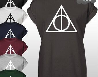 Deathly Hallows T-Shirt Top Potter Tee Logo Voldemort Sweatshirt The DH Shirt tshirt
