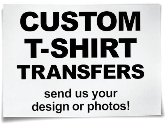 custom iron on t shirt transfers personalised your image photo