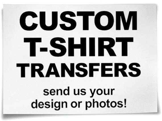 Custom iron on t shirt transfers personalised your image photo for Create your own iron on transfer for t shirt