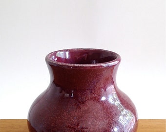 Plum Ceramic Bud Vase
