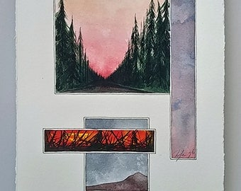 Watercolor Painting-Pacific NW Series 217