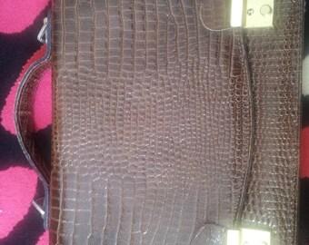 way croco leather Briefcase