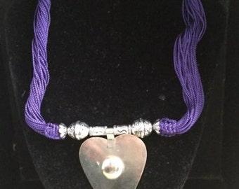 Moroccan purple Sabra necklace