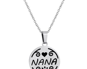Nana Disc Pendant With Personalized Birthstone