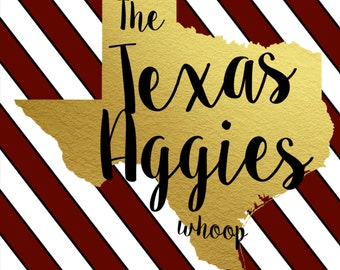 Texas Aggie Poster Instant Download 8x10