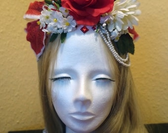 Flower hair band Lily passion