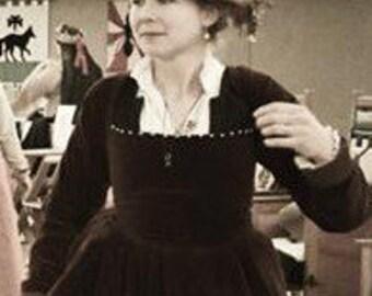 Elizabethan Linen Flat Cap, Renaissance Hat, SCA, Costume, Reenactment, Historical