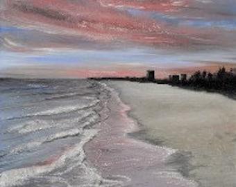 "Original Artwork - ""Sunset's Stoll"" (16"" x 20"" Canvas Print) From Original Oil Painting"