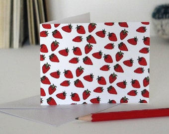 Small Greeting Card: Strawberries