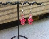 Sucette rose boucles d'oreilles