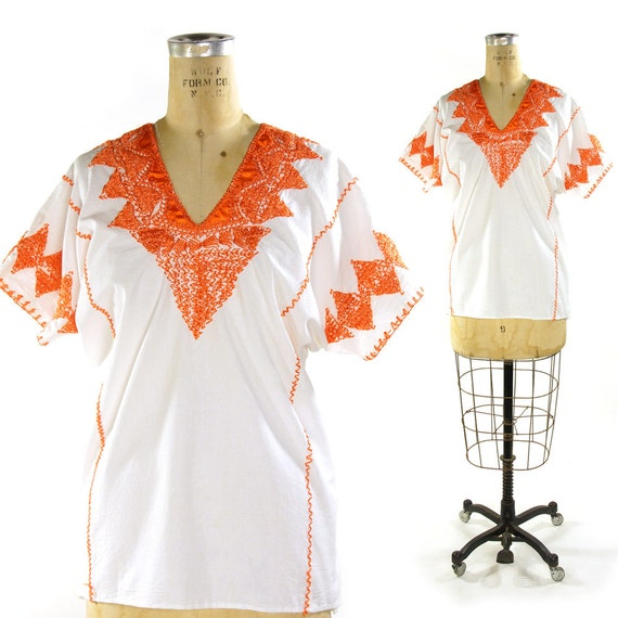 White Embroidered Mexican Blouse 95