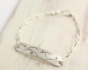 Starry Sky ID Bracelet Sterling Silver