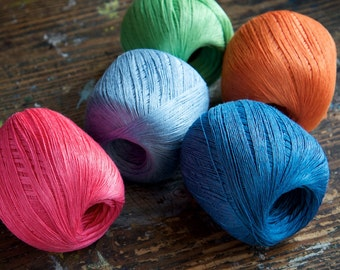 Linen yarn thread -- one ball -- 5-ply