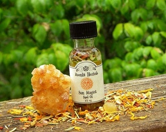 Sun Magick Spell Oil - Success, Illumination, Courage, Power, Creativity, Boosting Energy, Enlightenment, Lugh, Sol, Uplifting, Pagan, Wicca
