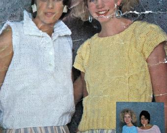 Sweater Knitting Patterns Summer English French Phentex Women Vintage Paper Original NOT a PDF