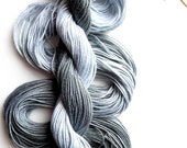 """Size 3 """"Grayscale"""" hand dyed thread 6 cord cordonnet tatting crochet cotton"""