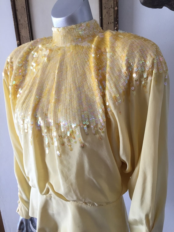 Yellow Sequin Blouse 78
