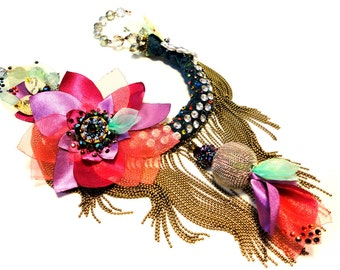 BaRock Collection, One of a kind Couture Necklace by Monikque