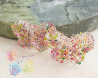 Lampwork Glass  Beads Cherry Blossom  Butterfly small