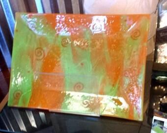 Orange and Green Platter