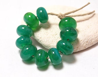 Palau spacers (10) - Handmade Lampwork Glass Beads