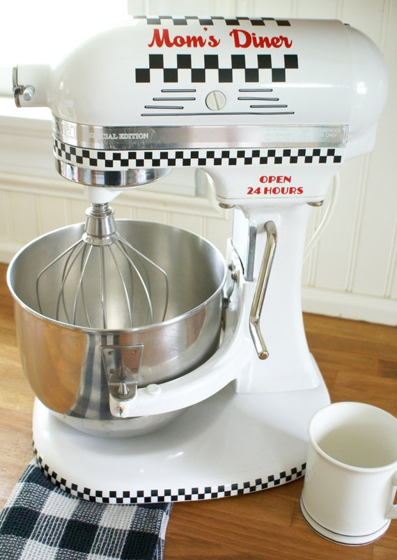 Retro Mom's Diner Kitchenaid Decal