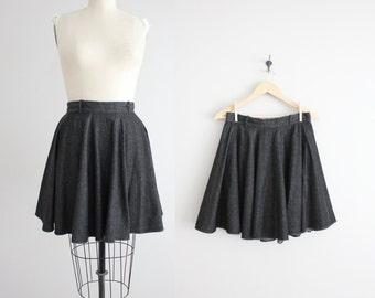 full mini skirt / denim skirt / denim circle skirt
